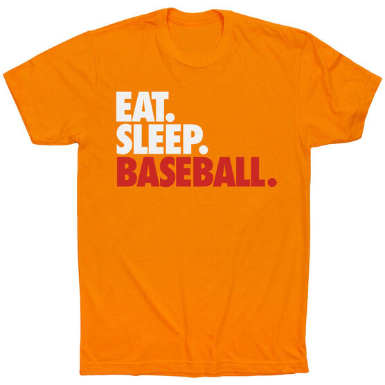 Baseball T-Shirt Short Sleeve Eat. Sleep. Baseball.