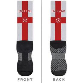 Soccer Printed Mid-Calf Socks - England