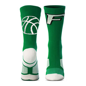 Custom Basketball Woven Mid-Calf Socks - Logo