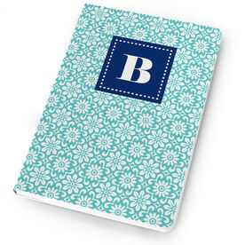 Personalized Notebook - Single Initial Floral Pattern