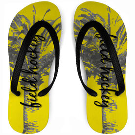 Field Hockey Flip Flops Palm Tree