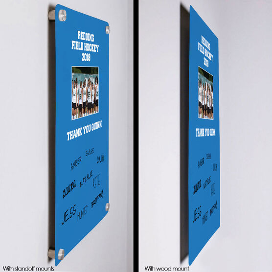 """Field Hockey Aluminum Room Sign (18""""x12"""") Personalized Field Hockey Photo with Team Signatures"""