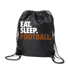Football Sport Pack Cinch Sack Eat. Sleep. Football.
