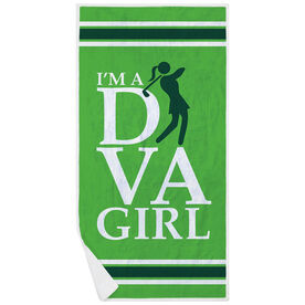 Golf Premium Beach Towel - I'm A Diva Girl