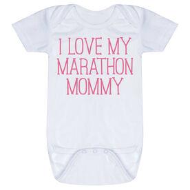 Running Baby One-Piece - I Love My Marathon Mommy