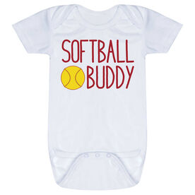 Softball Baby One-Piece - Softball Buddy