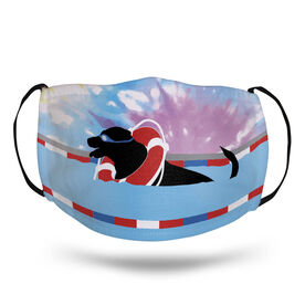 Swimming Face Mask - Finn The Swim Dog Tie-Dye