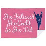Cheerleading Premium Blanket - She Believed She Could So She Did