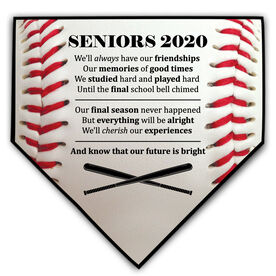 Baseball Home Plate Plaque - Seniors 2020 Our Future Is Bright