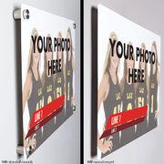 "Girls Lacrosse 18"" X 12"" Aluminum Room Sign - Classic Horizontal Photo"