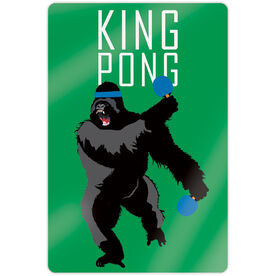 "Ping Pong 18"" X 12"" Aluminum Room Sign - King Pong"