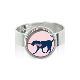 Girls Lacrosse SportSNAPS Ring LuLa the Lax Dog