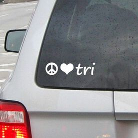 Peace Love Tri Vinyl RUNNERDecal