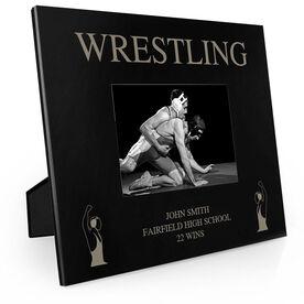 Wrestling Engraved Picture Frame - Wrestlers Winning