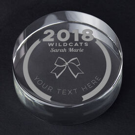 Cheerleading Personalized Engraved Crystal Gift - Custom Team Award