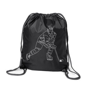 Hockey Sport Pack Cinch Sack - Hockey Player Sketch