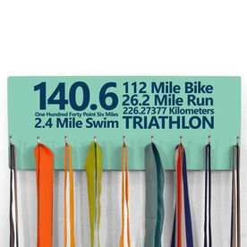 Hooked On Medals Hanger 140.6 Math Miles