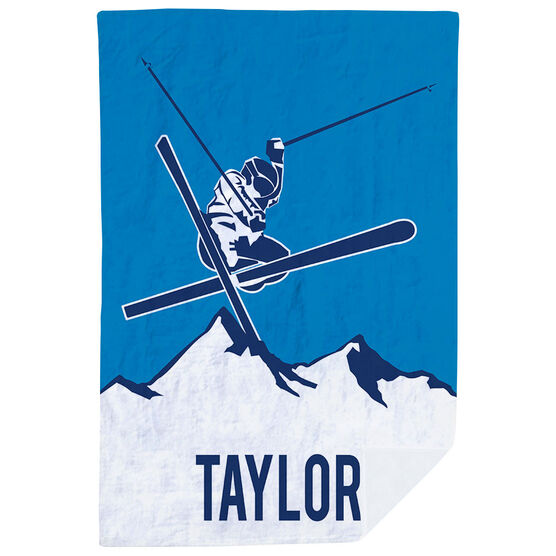 Skiing Premium Blanket - Personalized Airborne