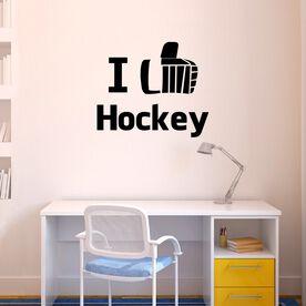 I Like Hockey Removable ChalkTalkGraphix Wall Decal