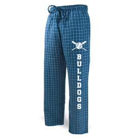 Baseball Lounge Pants Team Name With Crossed Bats