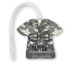 Personalized Jersey Bag/Luggage Tag - Air Force Camo