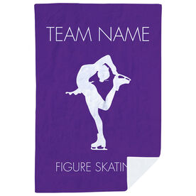 Figure Skating Premium Blanket - Personalized Team Name