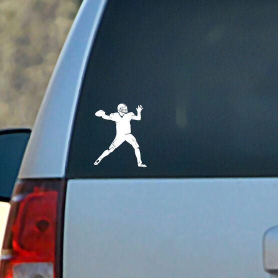 Vinyl Car Decal Football Quarterback Silhouette