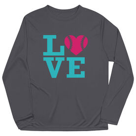 Softball Long Sleeve Performance Tee - Love