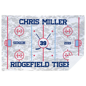 Hockey Premium Blanket - Personalized Hockey Senior