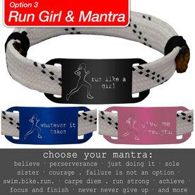 RaceLACE Mantra Bracelet w/ Running Girl - WHITE