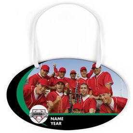 Baseball Oval Sign - Team Photo and Logo