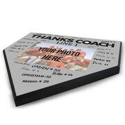 Baseball Home Plate Plaque - Thank You Coach Photo Autograph