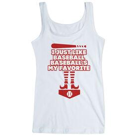 Baseball Women's Athletic Tank Top - Baseball's My Favorite