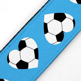 Soccer Juliband No-Slip Headband - Soccer Ball Hearts