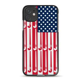 Field Hockey iPhone® Case - American Flag