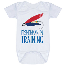 Fly Fishing Baby One-Piece - Fisherman In Training