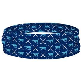 Field Hockey Multifunctional Headwear - Fetch the Field Hockey Dog RokBAND