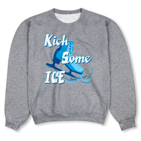 Figure Skating Crew Neck Sweatshirt - Kick Some Ice