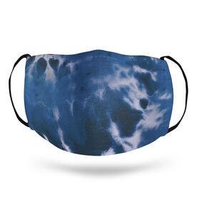 Face Mask - Tie-Dye Blue