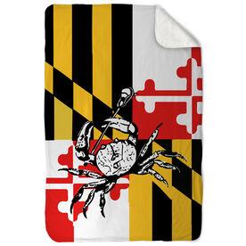 Guys Lacrosse Sherpa Fleece Blanket - Maryland Lacrosse