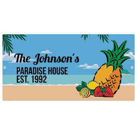 """Personalized Indoor/Outdoor Sign (8"""" x 16"""") - Tropical Sign"""