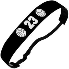 Volleyball Juliband No-Slip Headband - Ball Icons with Number