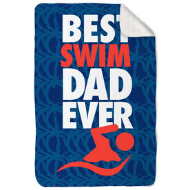 Swimming Sherpa Fleece Blanket - Best Dad Ever