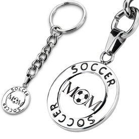 Soccer Circle Keychain Ball Mom