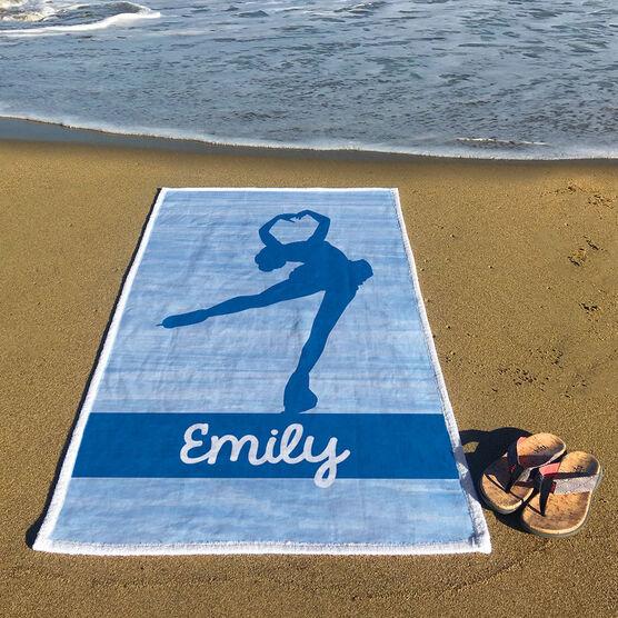 Figure Skating Premium Beach Towel - Personalized Figure Skater