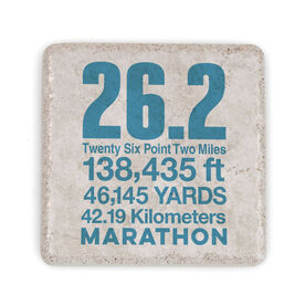 Running Stone Coaster - 26.2 Math Miles