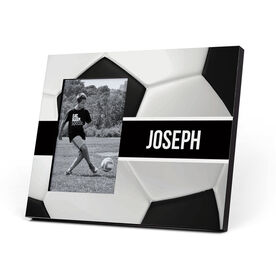 Soccer Photo Frame - Personalized Ball Pattern