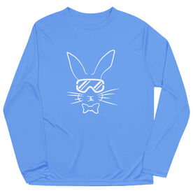Skiing Long Sleeve Performance Tee - Hopster Ski Bunny