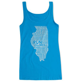 Women's Athletic Tank Top Illinois State Runner