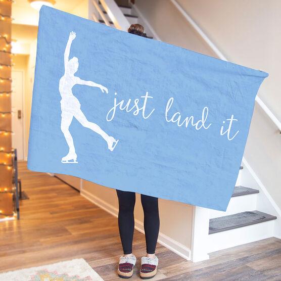 Figure Skating Premium Blanket - Just Land It